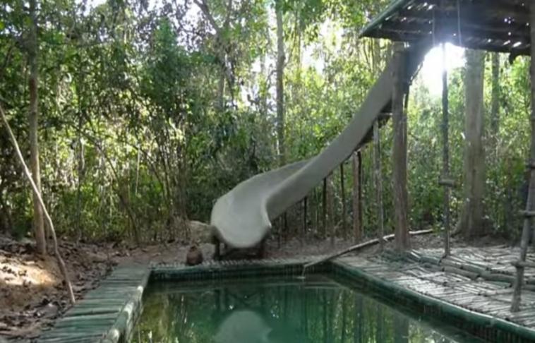 epiko geliopos enas typos kataskevase tin pio ekpliktiki vila bamboo me thermenomeni pisina ke nerotsoulithra sti zougkla