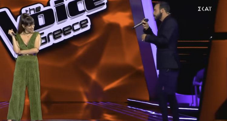 The Voice Ρουβάς και Μουζουράκης έκαναν ντουέτο με παίκτρια