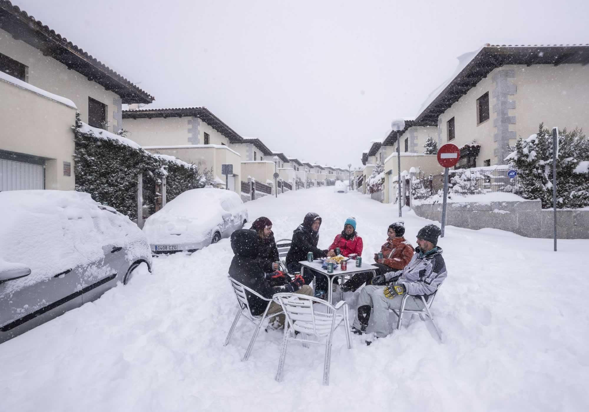 Δριμύ ψύχος στην Ευρώπη-Η Ισπανία στο έλεος του Χιονιά
