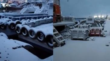 Κακοκαιρία Μήδεια: Το έστρωσε στο λιμάνι του Περάματος